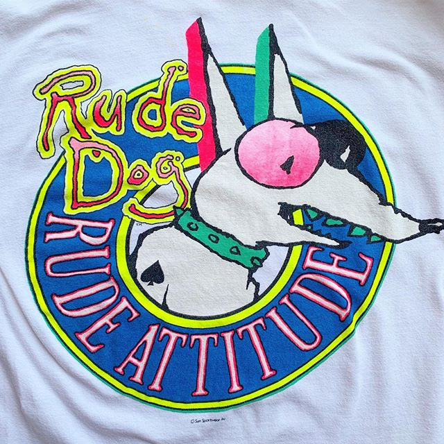 "VACATION - 👕T-shirt sale today in the stories👕 Special listing #Rudedog ""Rude Dog Rude Attitude!"" Size M"