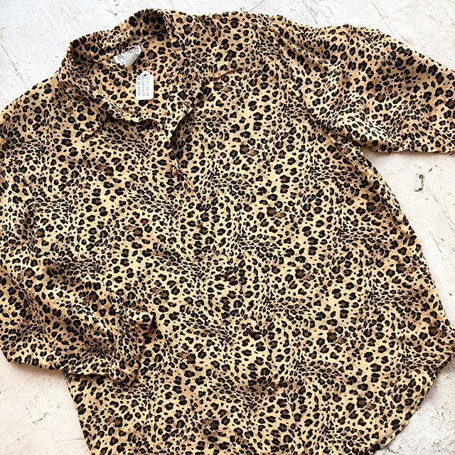 VACATION - *SPECIAL LISTING* size medium silk leopard blouse