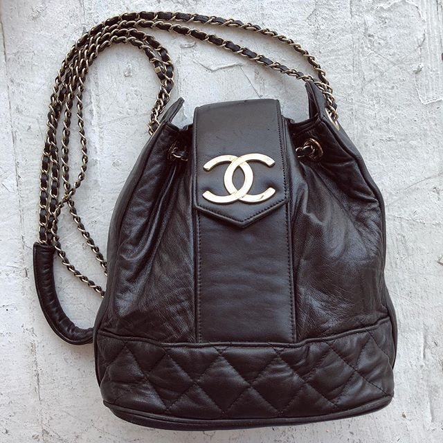 VACATION - Just got this fabulous everyday #chanel bag in. 100% leather inside and out! And of course the classic chain strap with woven leather.