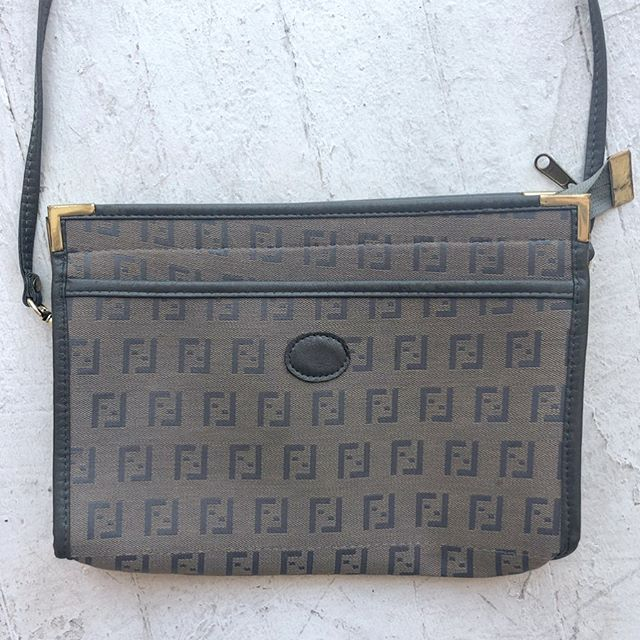 """VACATION - Little #faux fendi shoulder bag! Fits all ya need, even a tablet. Measures 12"""" x 8"""" x 2"""" with a remove able 40"""" strap."""