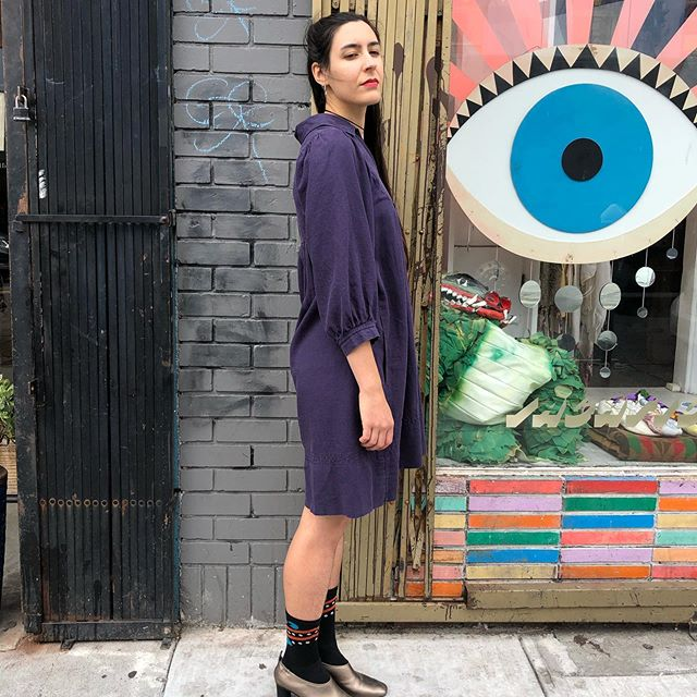 """VACATION - 🍆 Eggplant🍆 cotton #cult dress. Don't waste time with zippers or buttons, throw this on and go prance through the forest. Fits up to 42"""" bust, 38"""" length, two large front pockets. #freeyourself"""