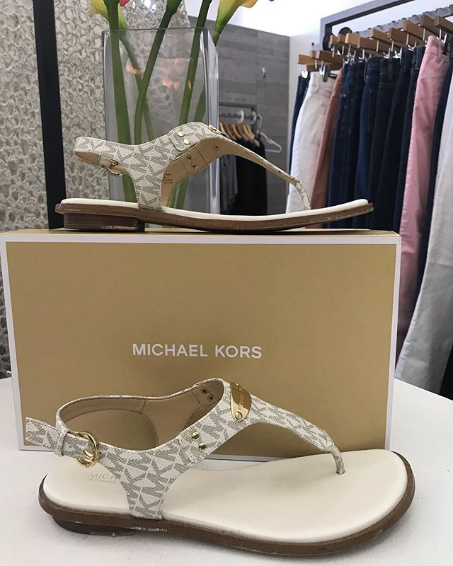 2_time_couture - We will be moving from our current location at 600 Central SE in the same bldg as the Grove at the end of the month. Then closed most of August for updates. So come in today to help us clear out! Item 8473. Michael Kors Sandals. Size 7.5.