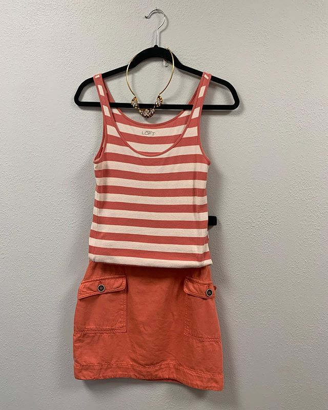 2_time_couture - Fashionistas we are open at our new location to shop and for consignors to pick up their checks. We still have great summer looks at unbelievable prices! 💋🛍😎 Item 7770, Ann Taylor Loft shirt, size M, 70% off at