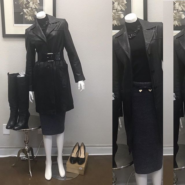 2_time_couture - Small Business Saturday Special! Today only! Classic Black Leather Trench. Size Small.