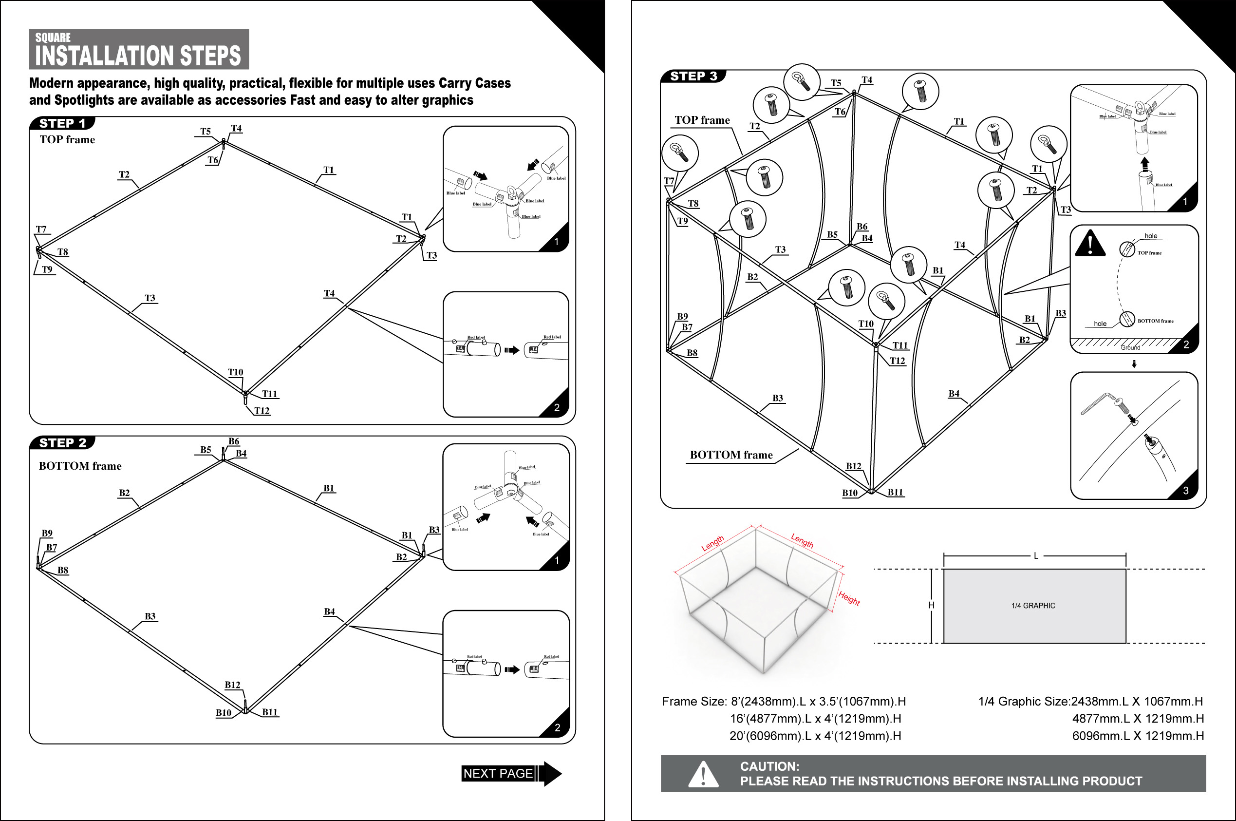 20x20 display kit two capital exhibits for Ez hang chairs instructions