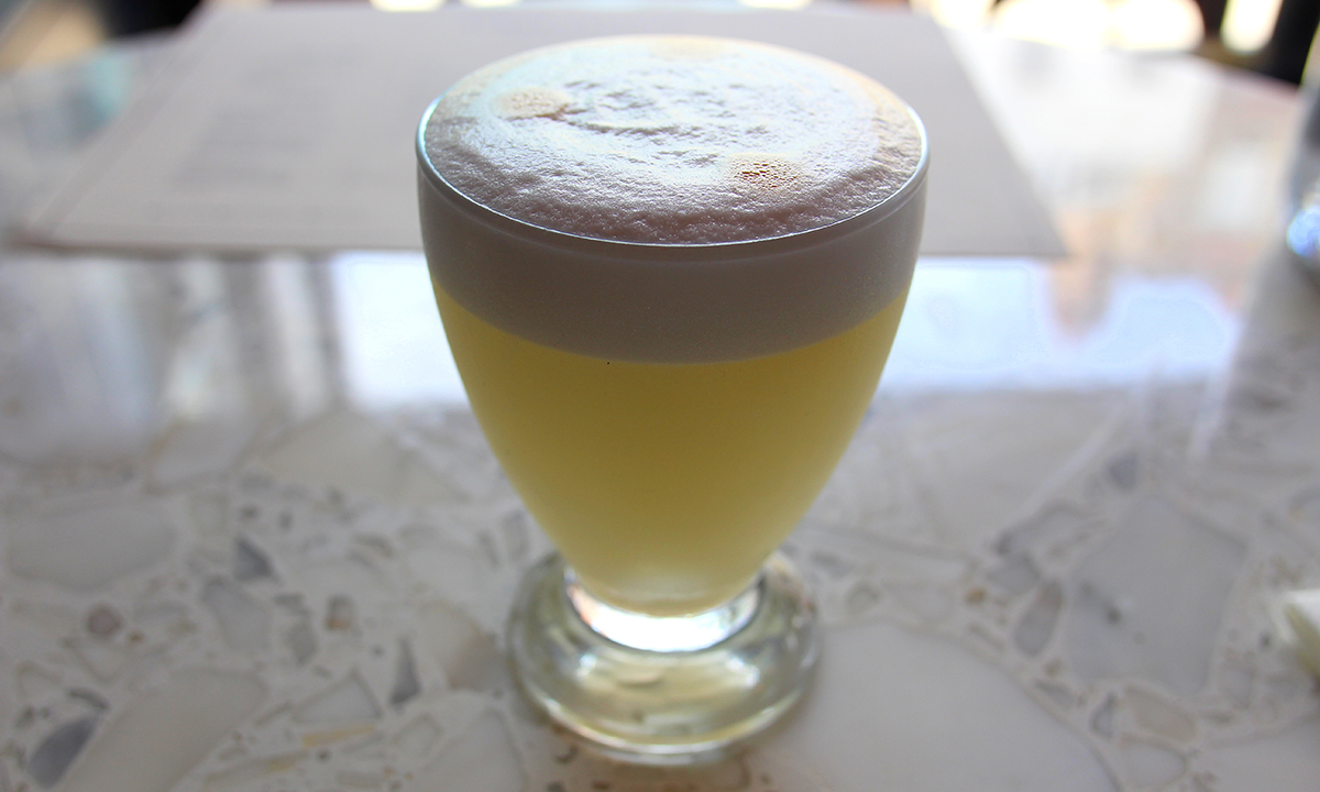 Sour Cocktail Recipes: Pisco Sour at Señor Ceviche