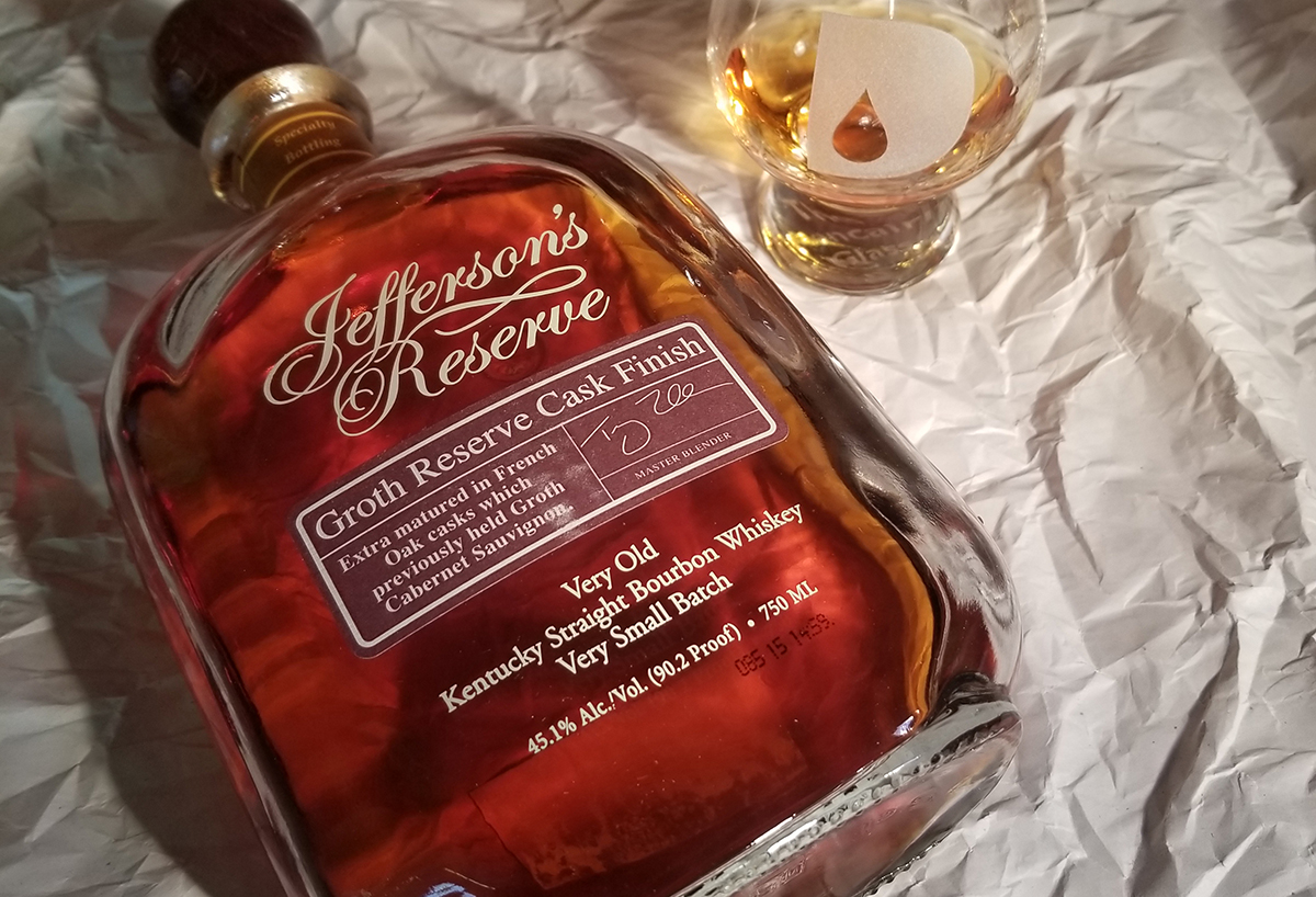 Whiskey Label: Jefferson's Reserve Very Small Batch Bourbon
