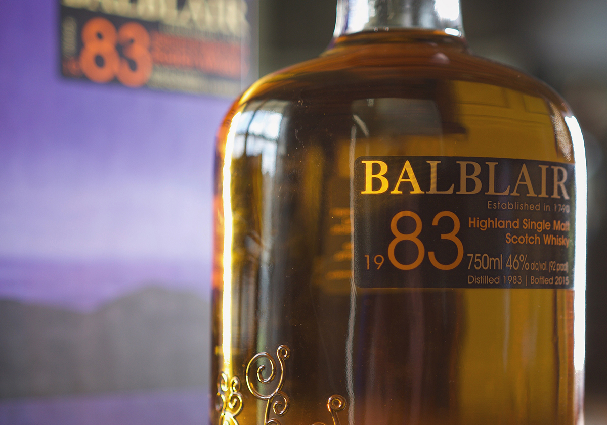 Whiskey Label: Balblair 1983