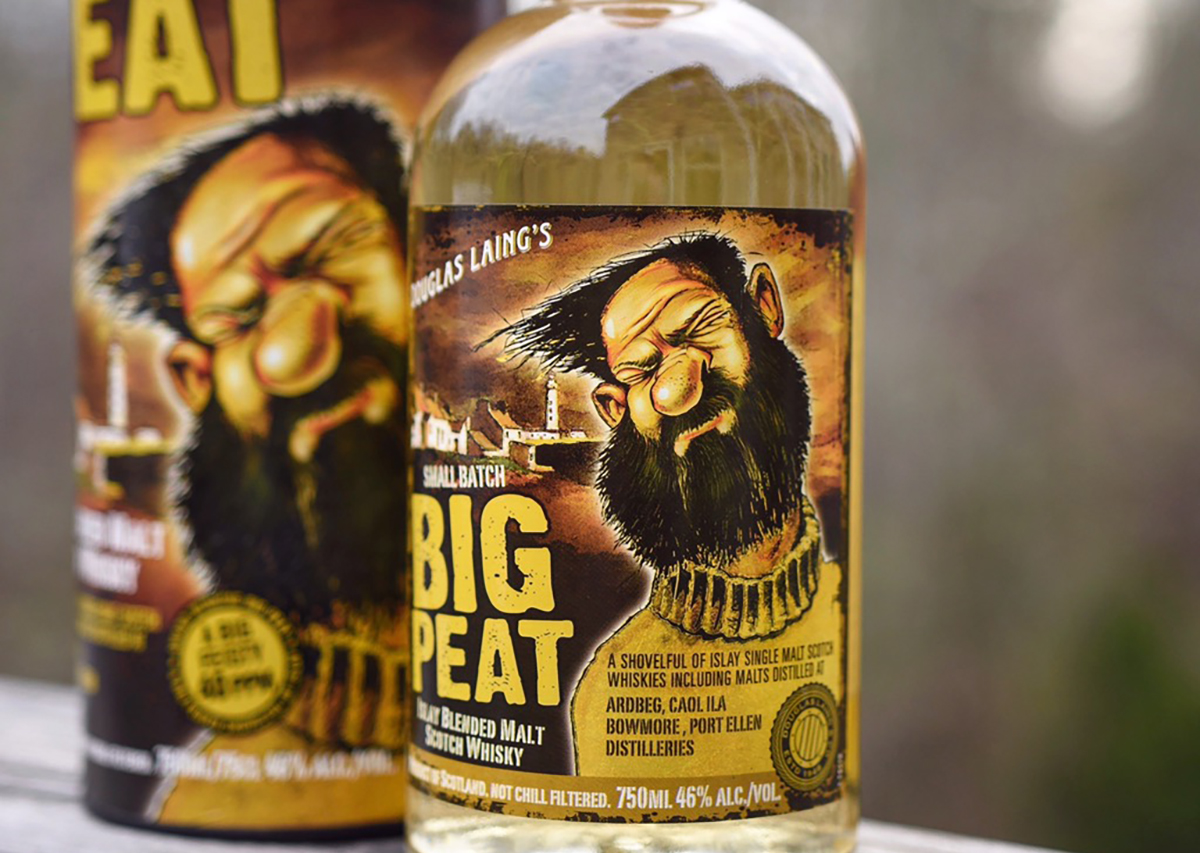 Whiskey Label: Big Peat Blended Malt