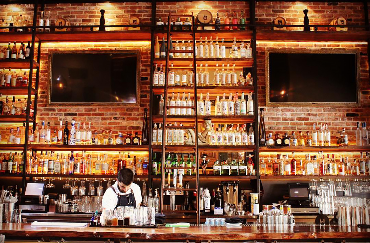 Best Mezcal Bars: The bar at Mezcalito