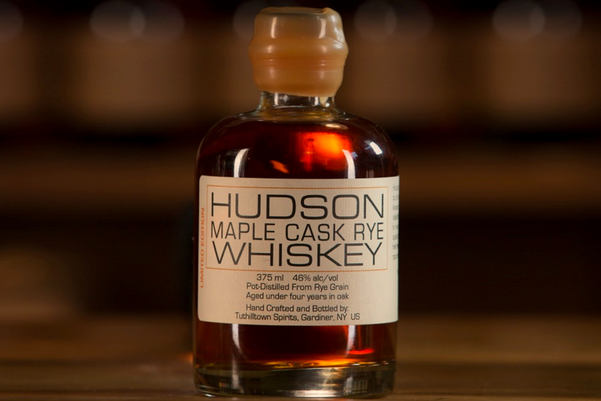 whiskey barrel finishes: Hudson Maple Cask Rye