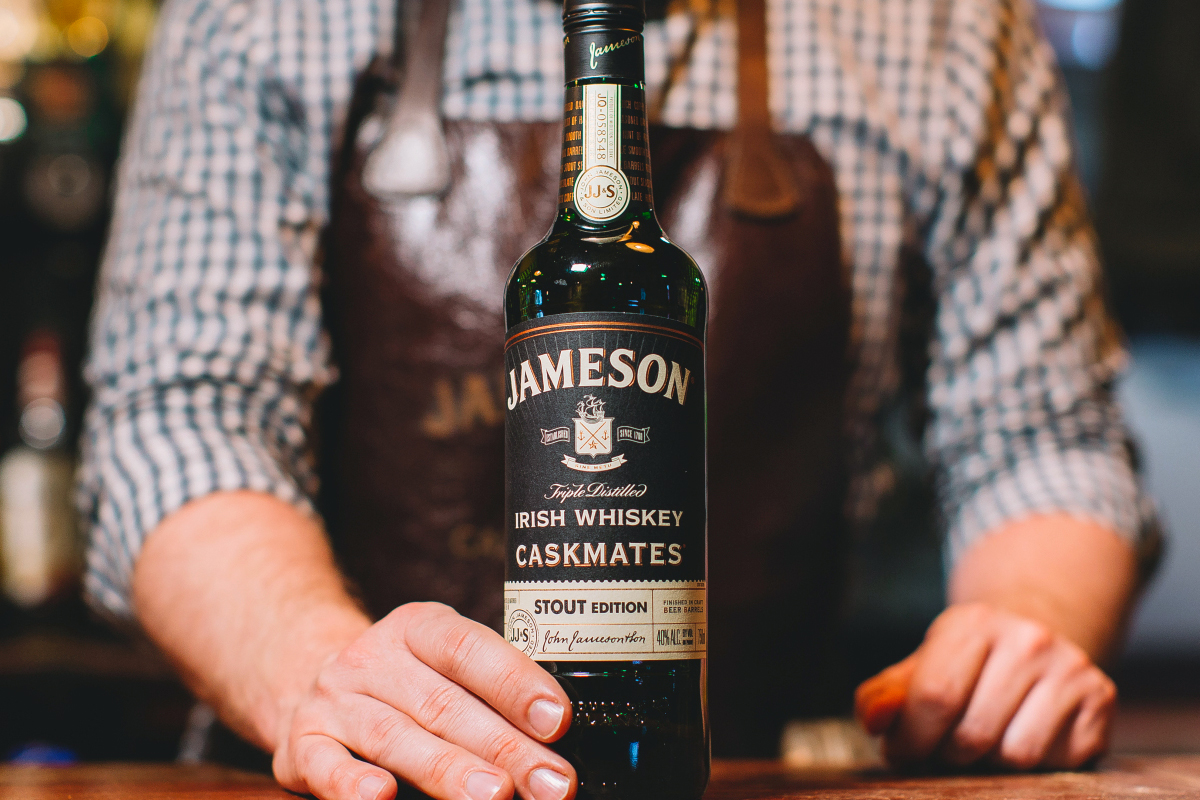 whiskey barrel finishes: Jameson Caskmates Stout Edition