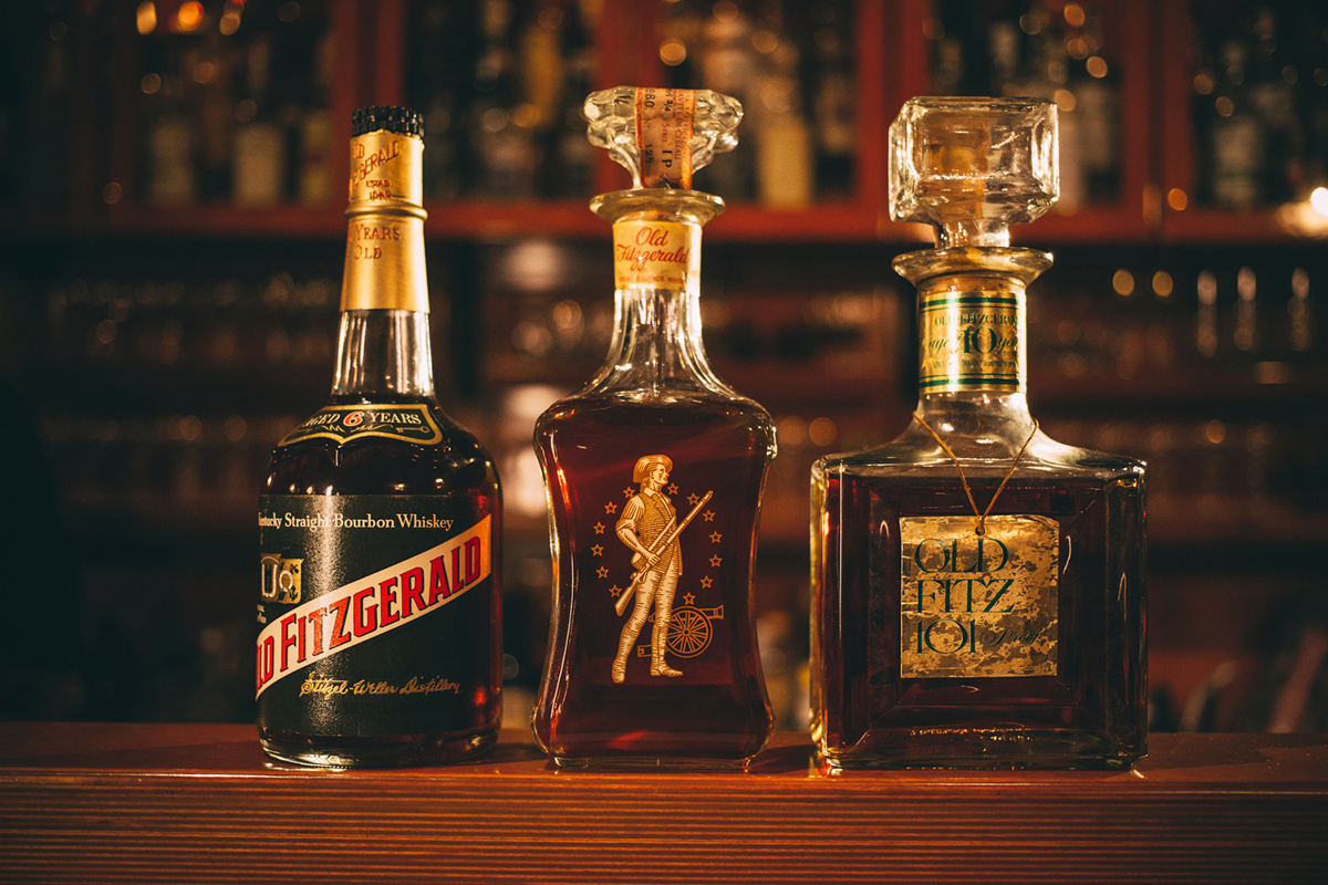 Chicago Bar: Milk Room vintage spirits