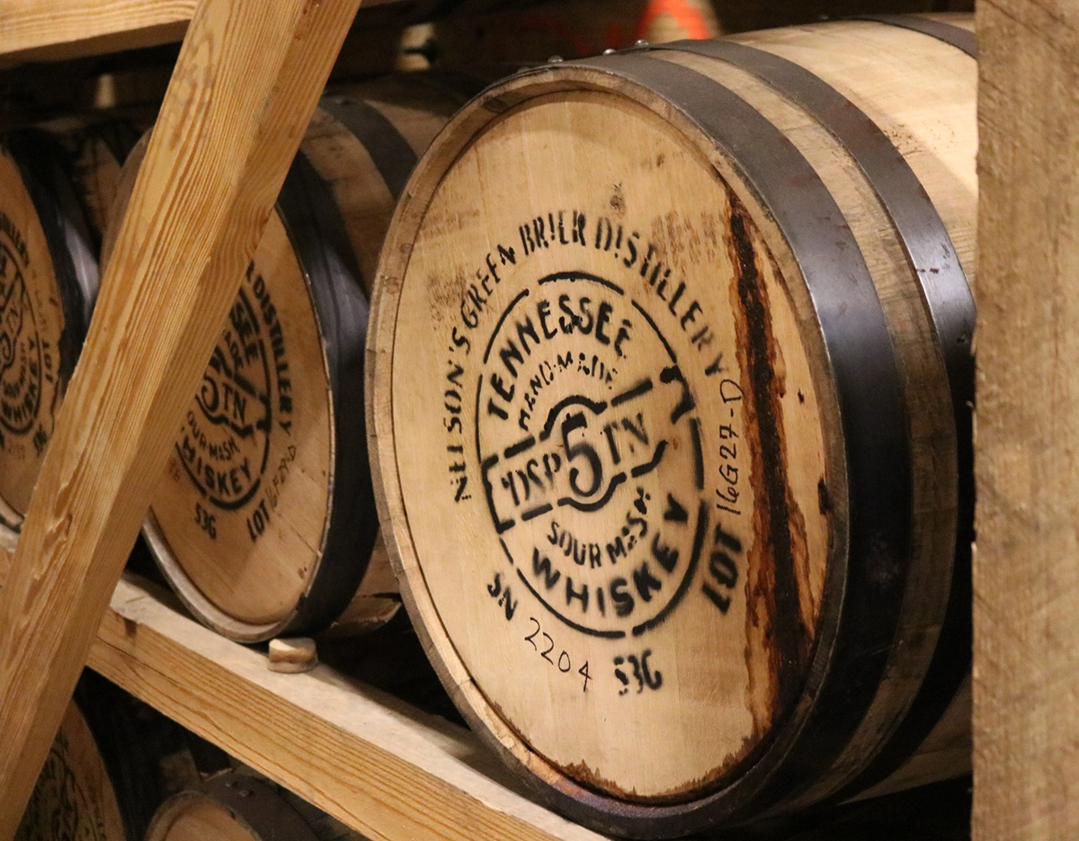 Nelson's Green Brier: Green Brier Barrel in Warehouse