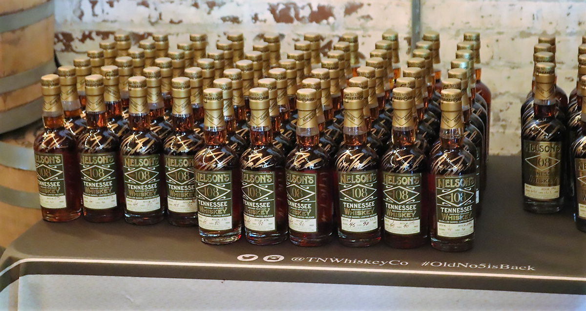 Nelson's Green Brier: Nelson's First 108 Tennessee Whiskey Bottles