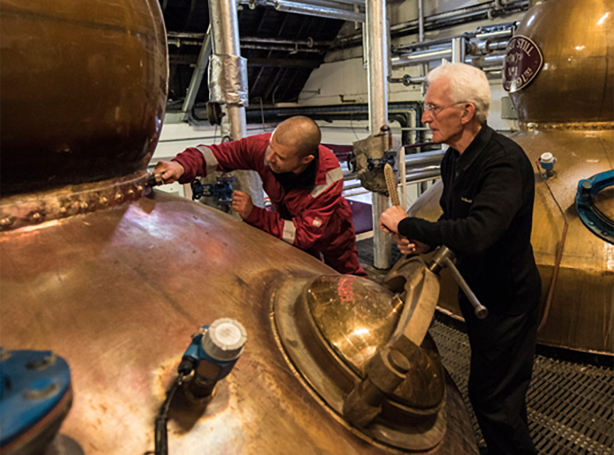 Single Malt Whiskey: George Singer (left) and Denis McBain, coppersmiths at The Balvenie