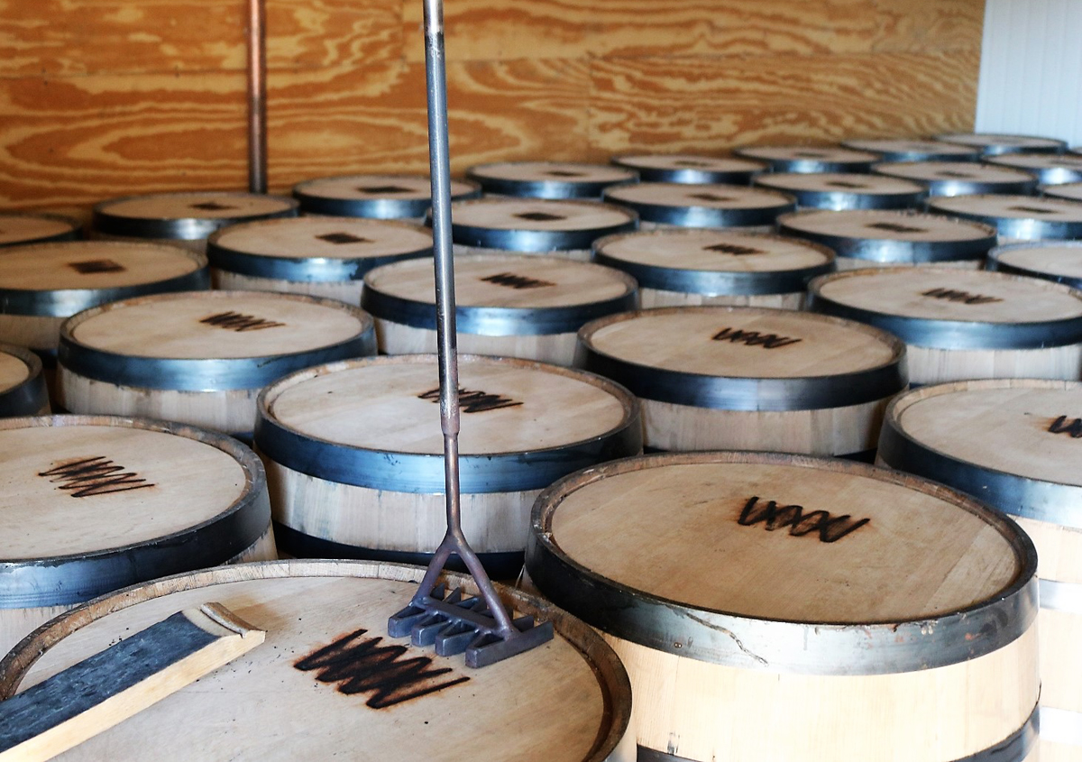 Wyoming Whiskey: Barrels at Wyoming Whiskey Distillery