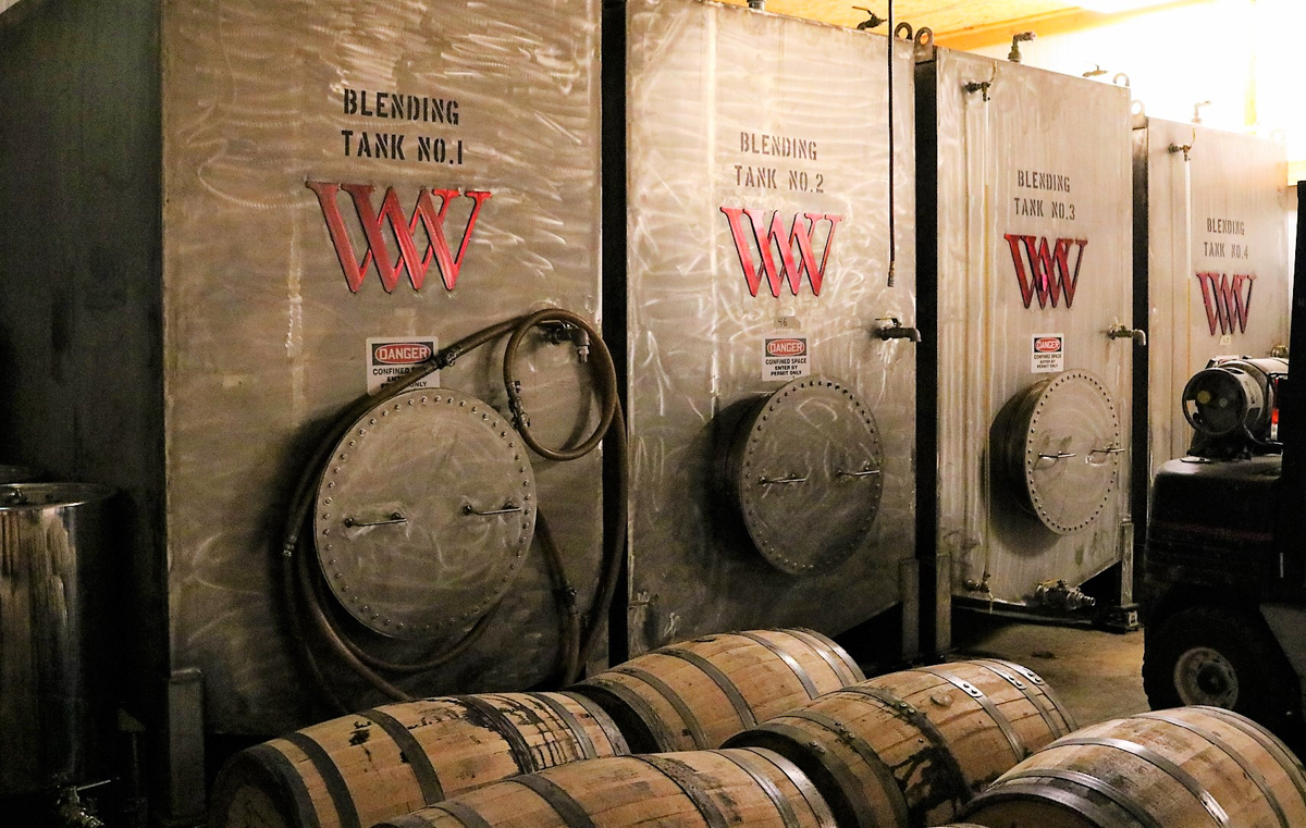 Wyoming Whiskey: Blending tanks