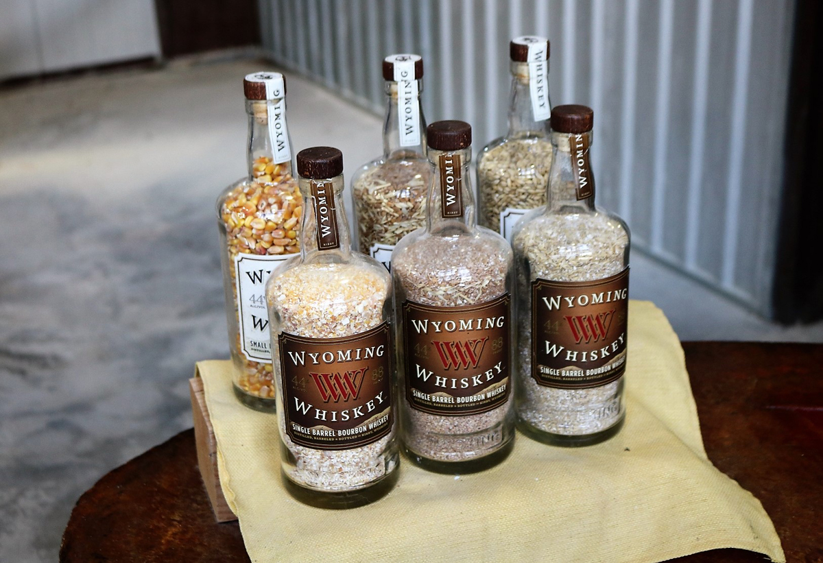 Wyoming Whiskey: Example of their corn, wheat, and malted barley mashbill (photo credit Jake Emen)