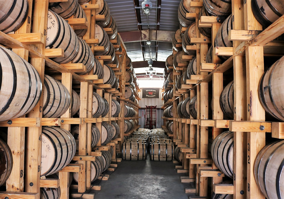 Wyoming Whiskey: distillery warehouse