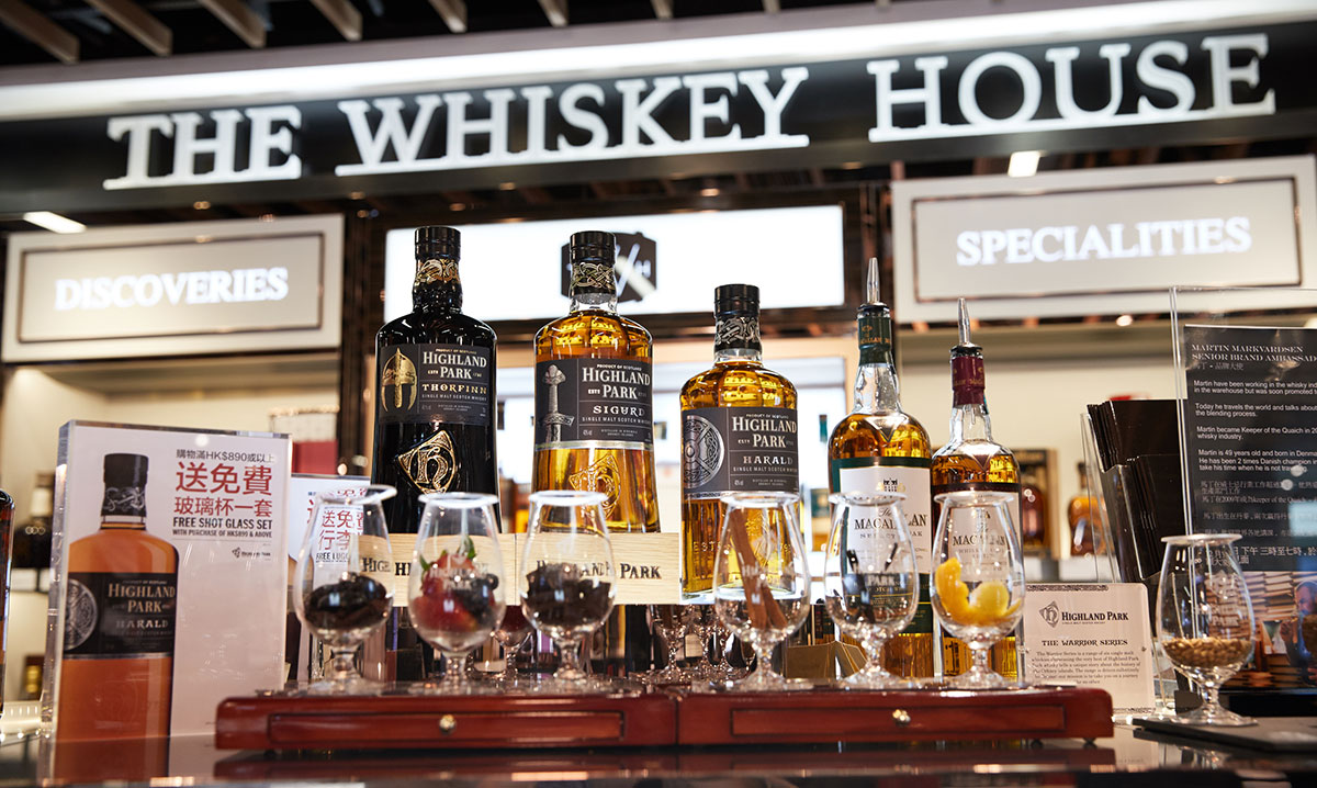 Travel Retail Whiskey: The Whiskey House at DFS Hong Kong International Airport
