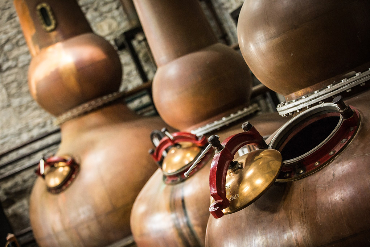 Bourbon Basics: Pot stills at Woodford Reserve