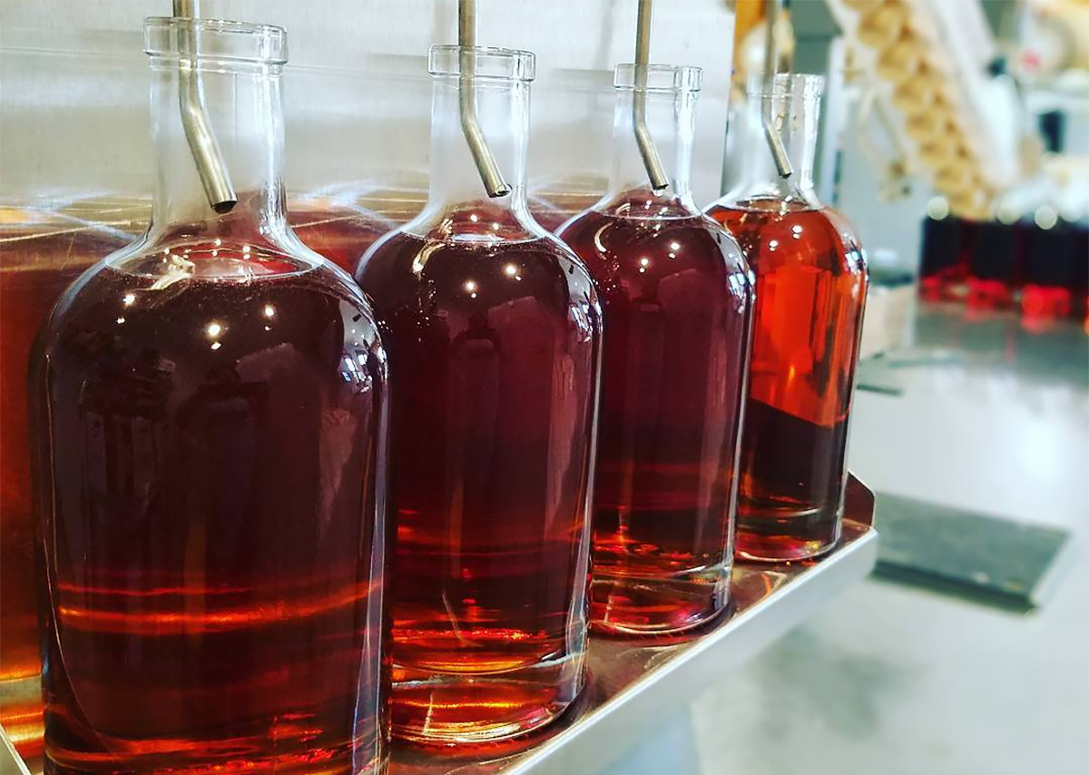 Non-Kentucky Bourbon: Freshly bottled bourbon at Port Chilkoot Distillery