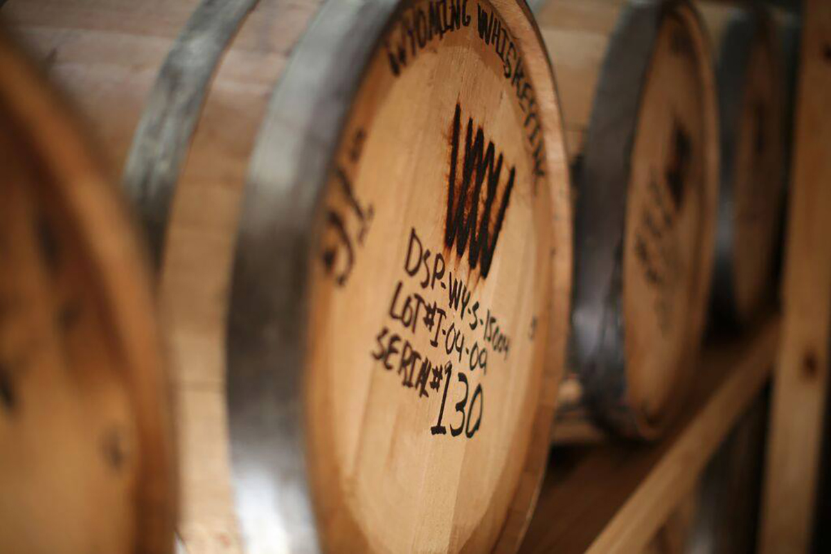 Non-Kentucky Bourbon: Barrels at Wyoming Whiskey Distillery