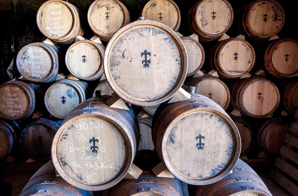 Single Barrel Bars: Plantation Rum barrels