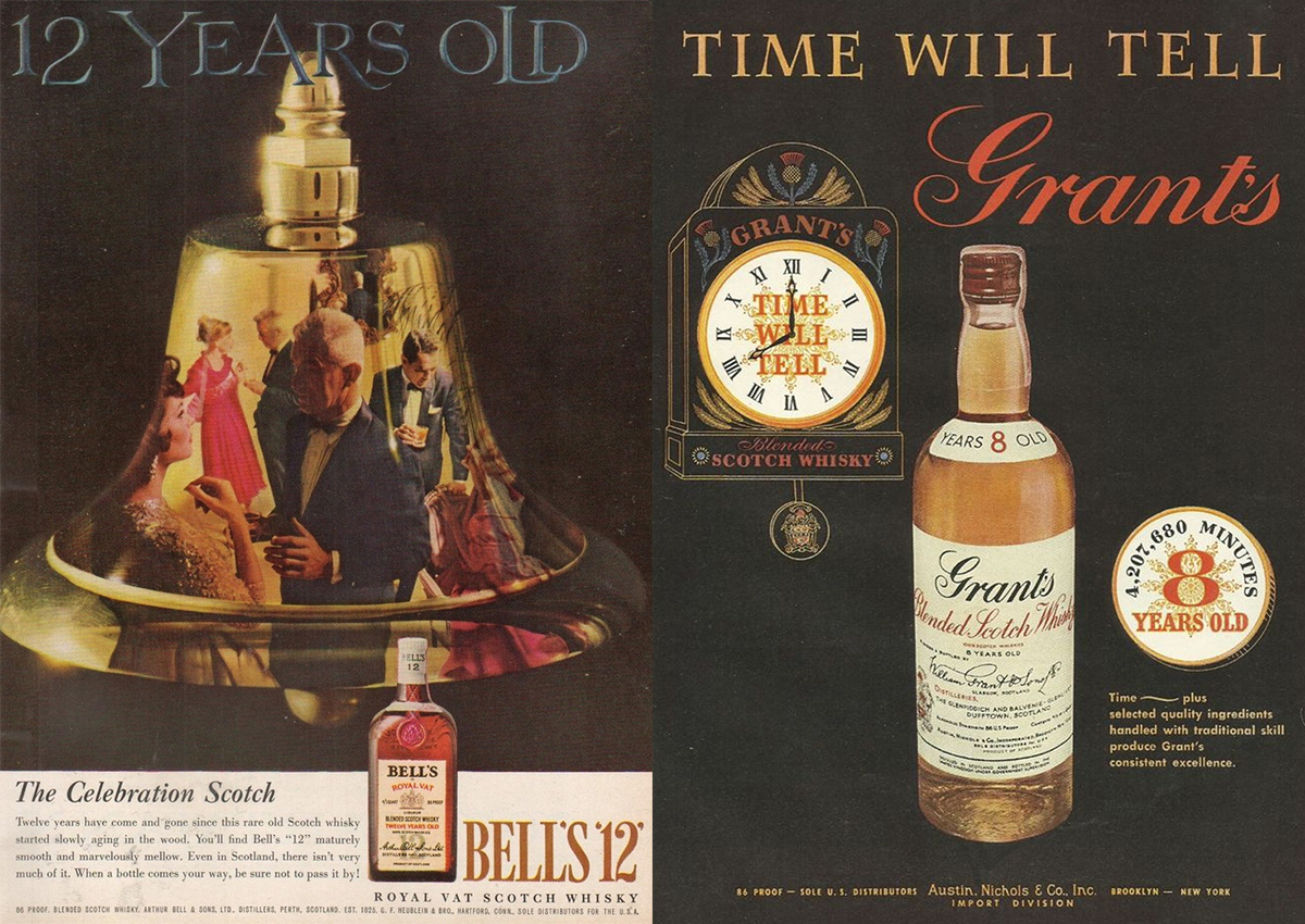 Whiskey Demand: Scotch ads from the '50s and '60s