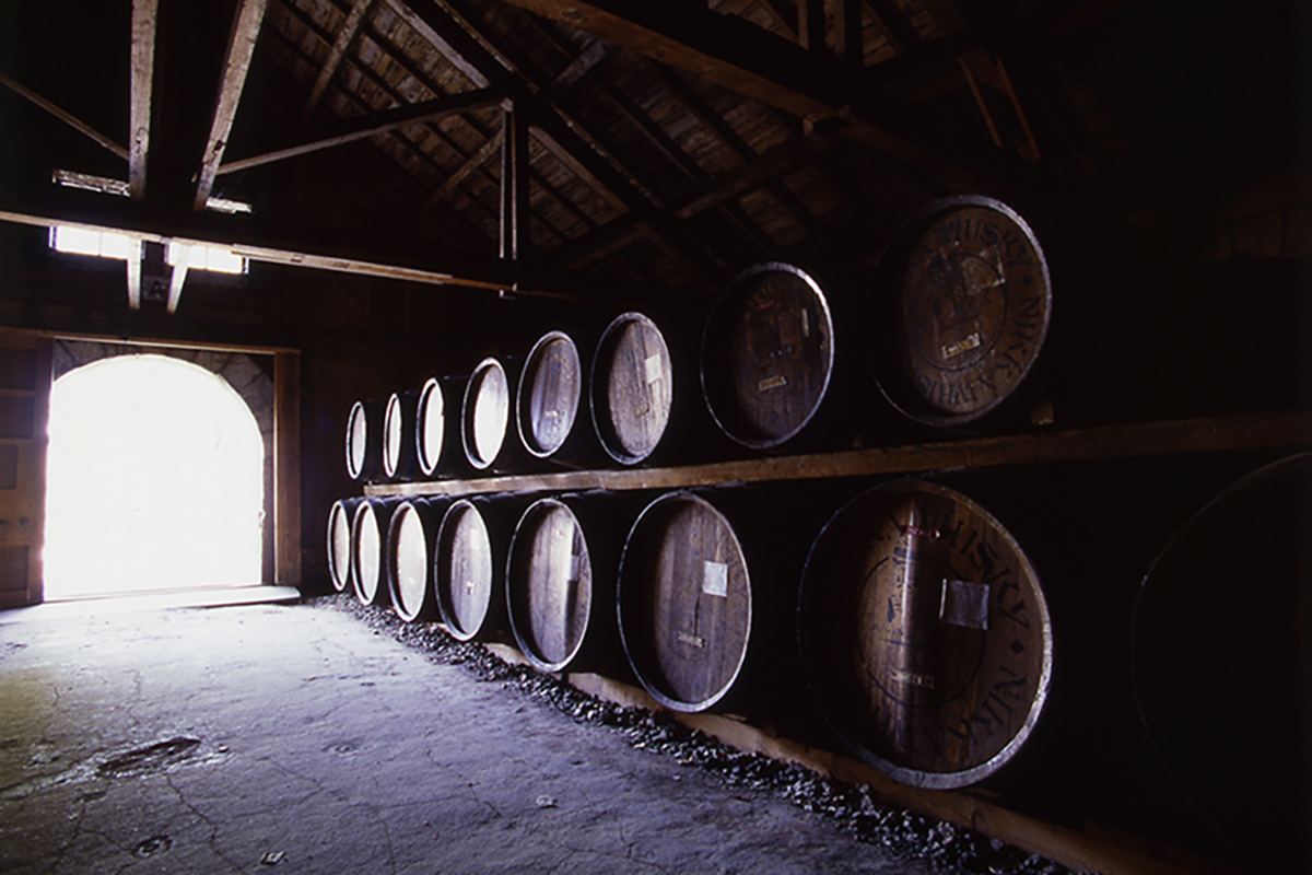 Whiskey Demand: Whisky barrels at the Yoichi Distillery