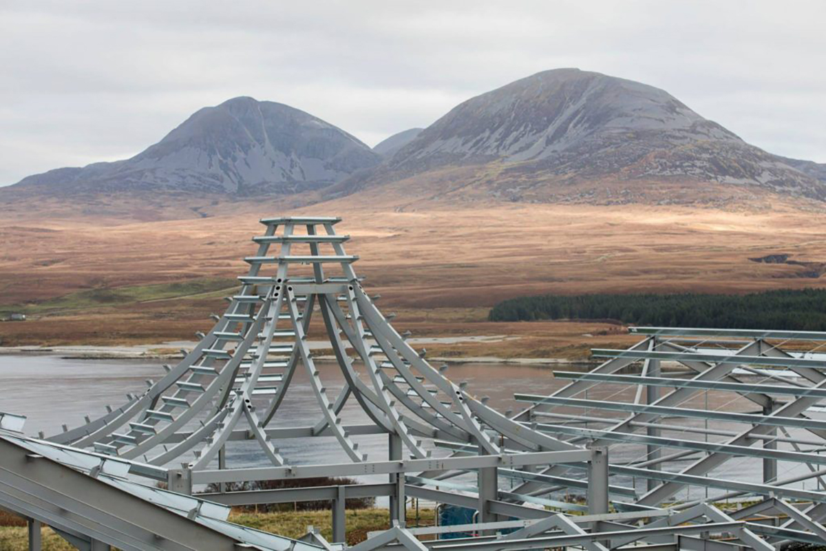 Ardnahoe Distillery: Skeleton pagoda roof