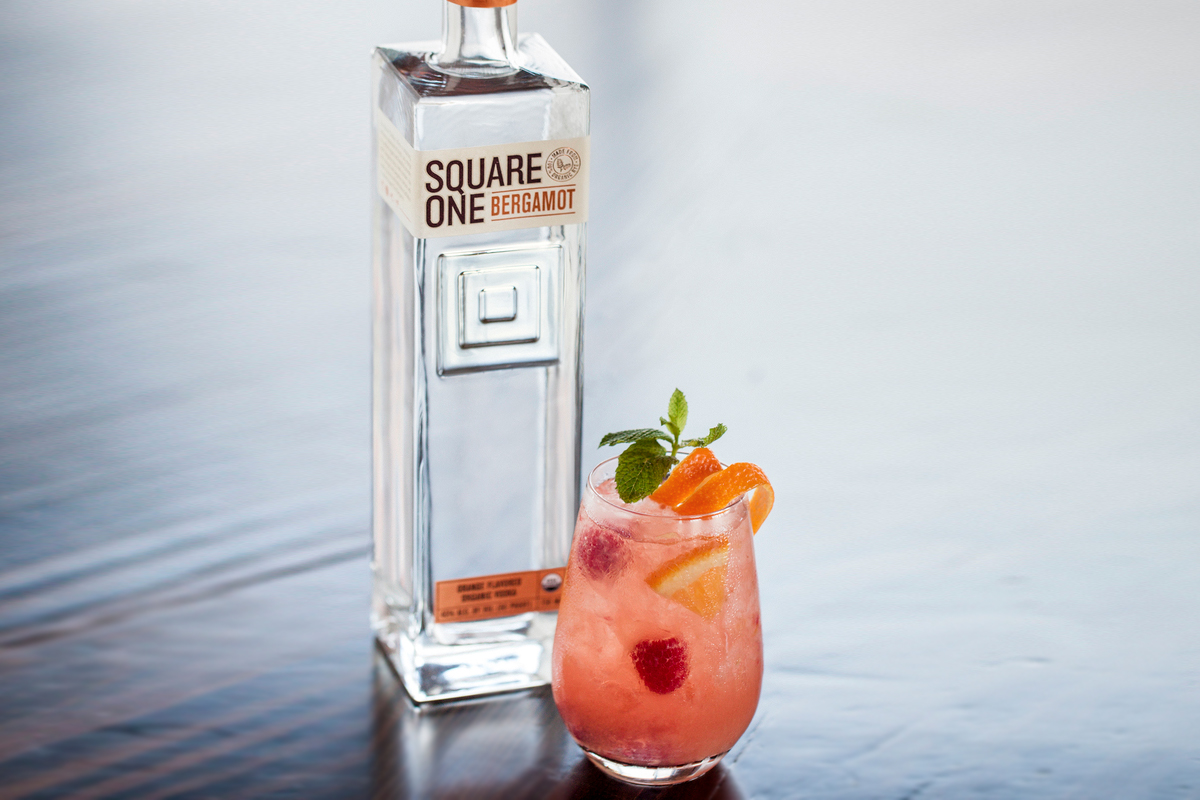 Vodka gin winter cocktails: Square One Sherry Cobbler