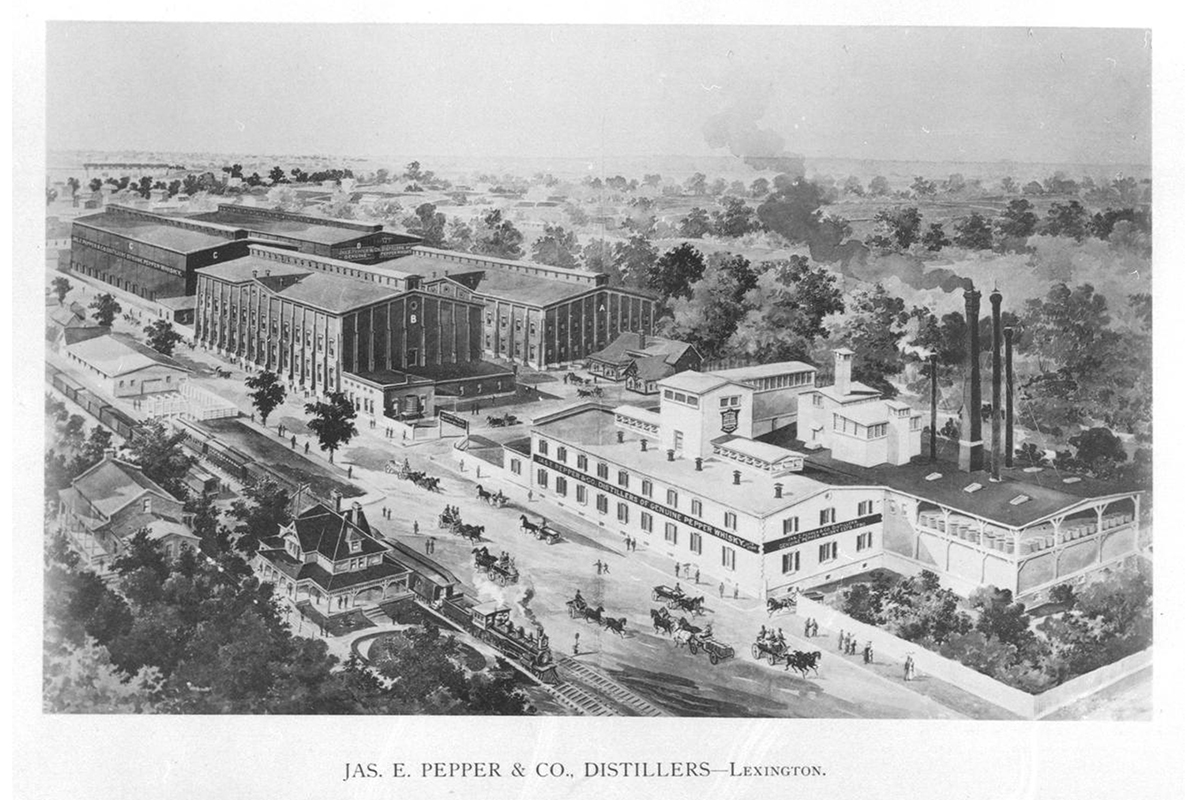 James E. Pepper: The Pepper Distillery in 1894