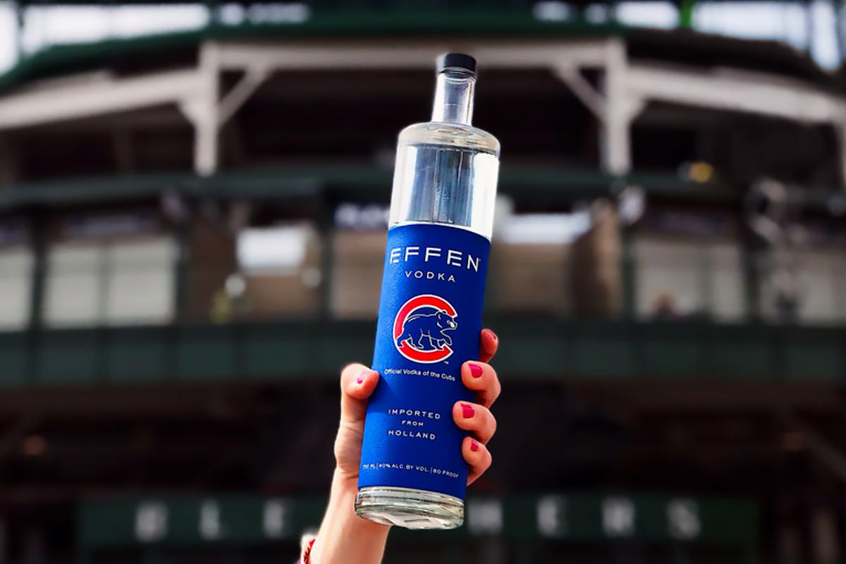 Baseball Bottles: Effen Vodka Cubs Release