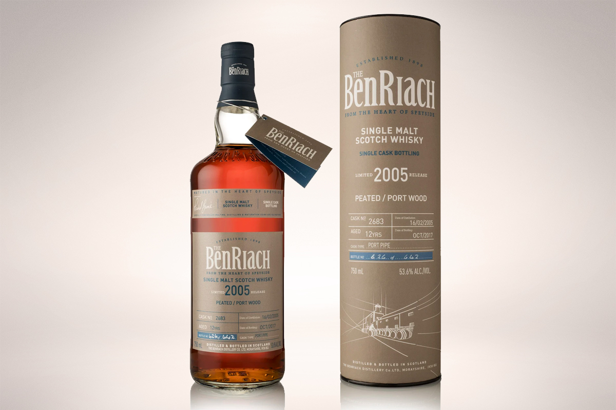 BenRiach 2005 12 Year Peated Port Wood Finish Single Cask #2683