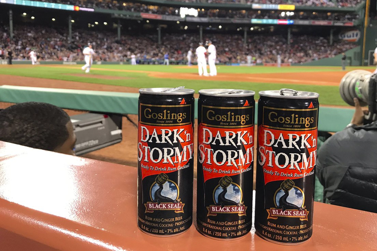 Baseball Bottles: Gosling's Dark 'n Stormy cocktails at Fenway Park