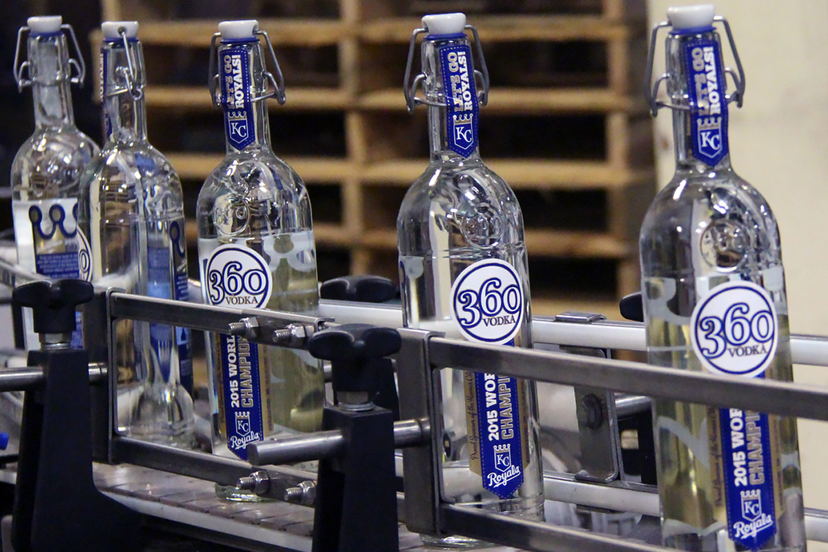 Baseball Bottles: 360 Vodka Kansas City Royals Edition