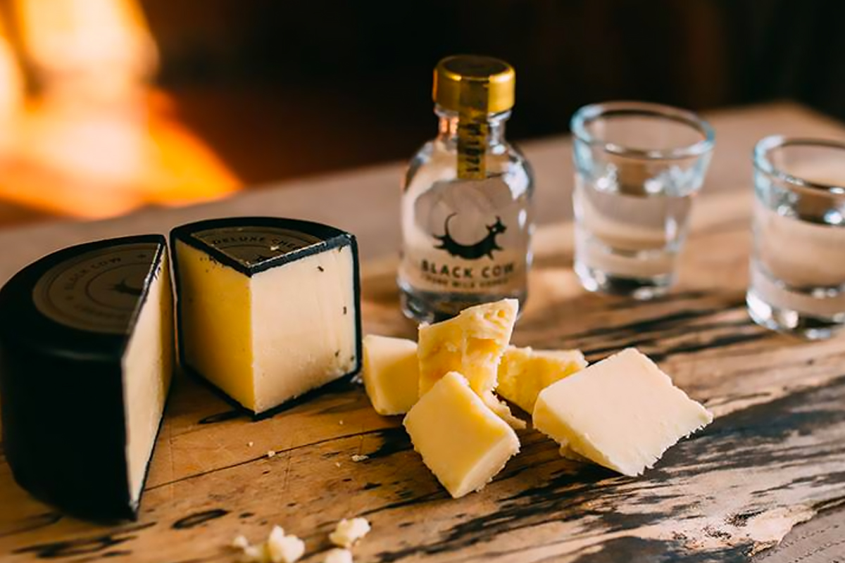 Milk Vodka: Black Cow Vodka and cheese