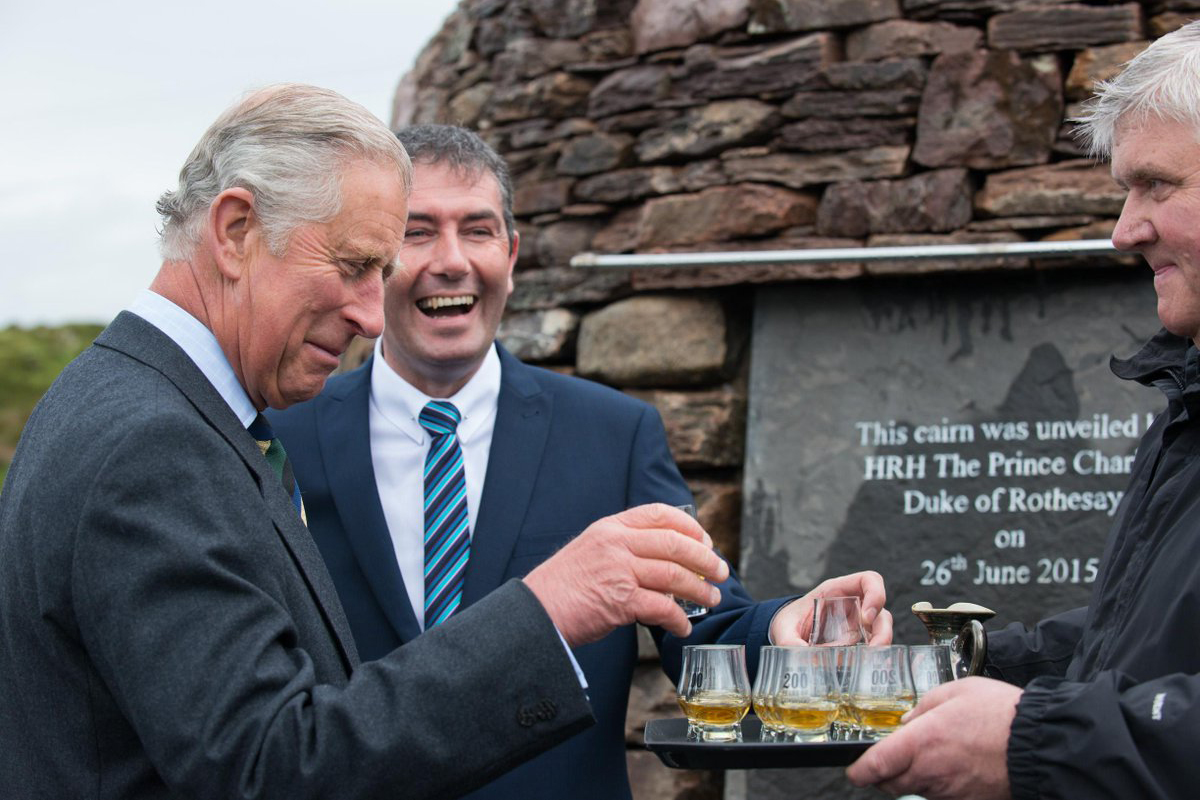 Royalty Scotch Whisky: Prince Charles visits Laphroaig
