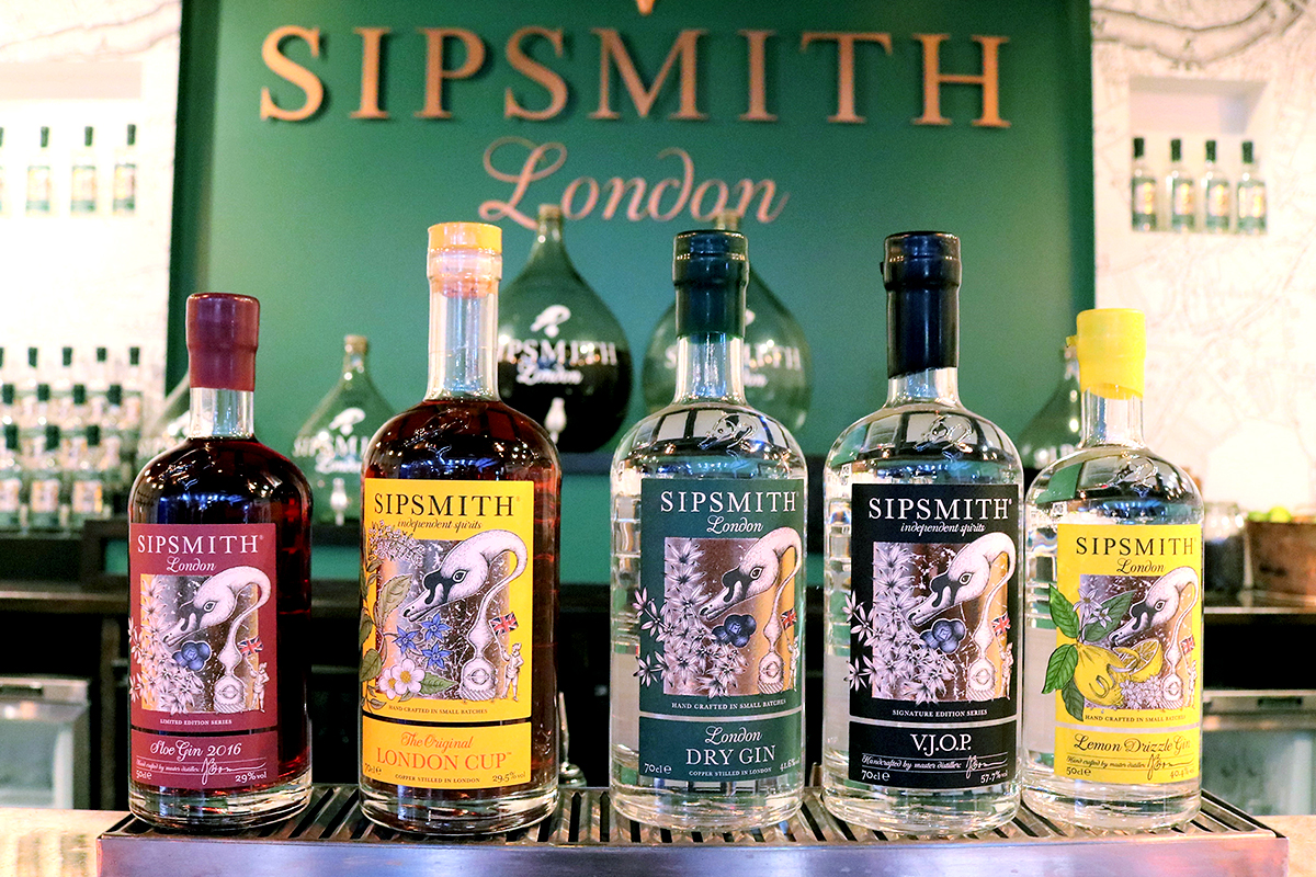 Sipsmith Distilled: Some of Sipsmith's range