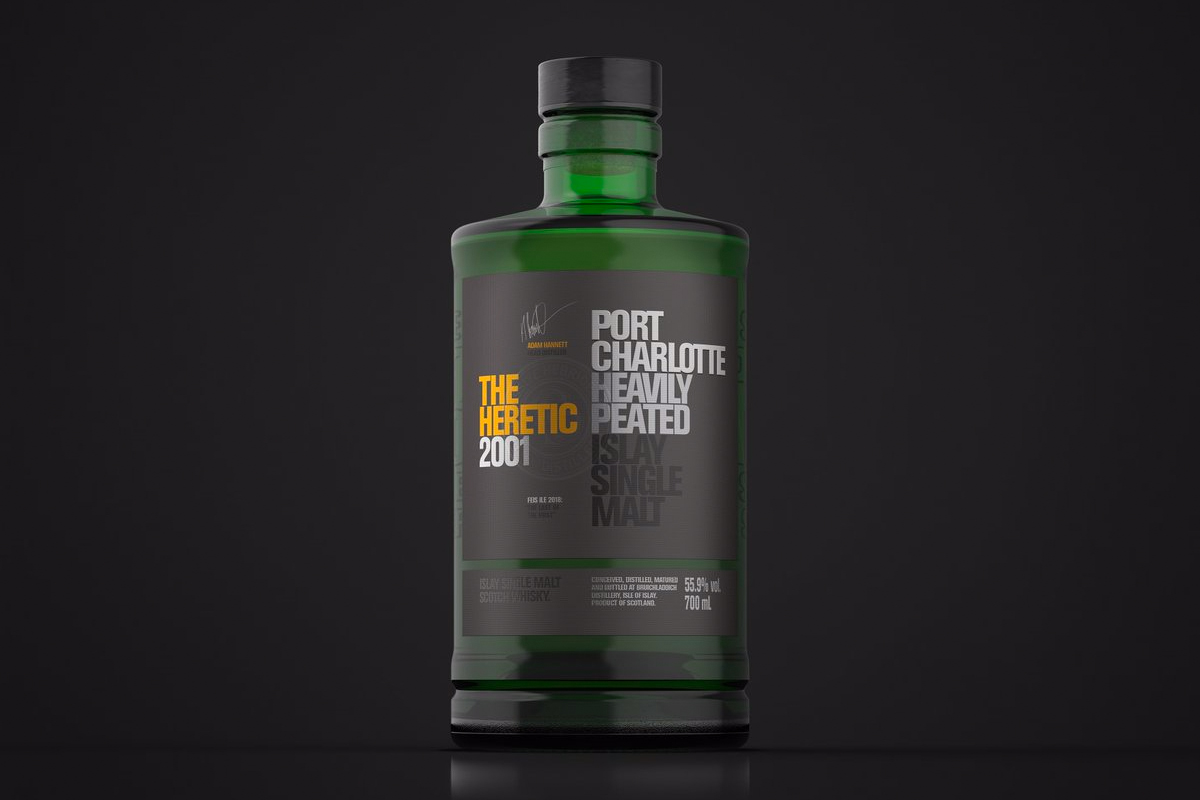 2018 Feis Ile Bottles: Port Charlotte The Heretic 2001