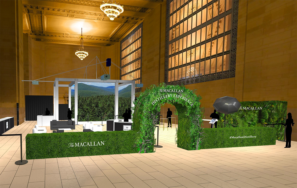The Macallan Experience Rendering in Grand Central Station