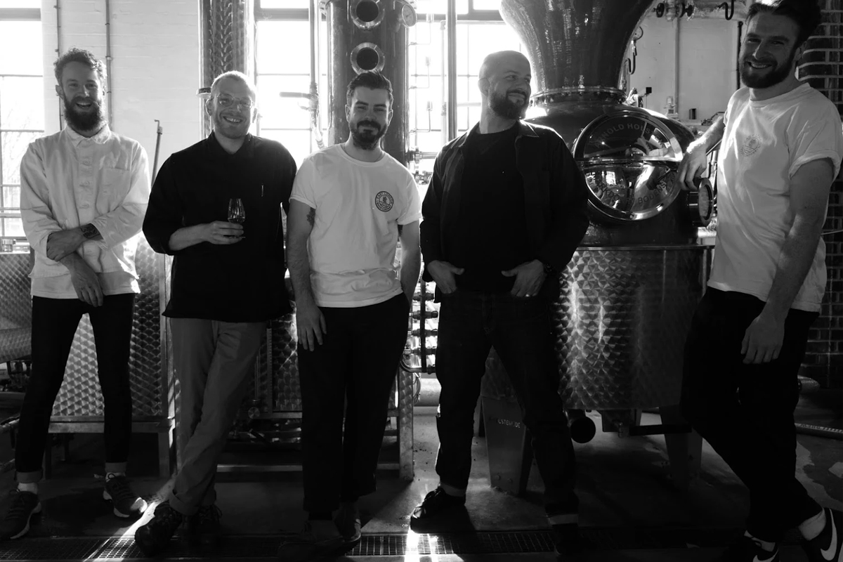 English Whisky: The East London Liquor Company team (Andy Mooney on right)