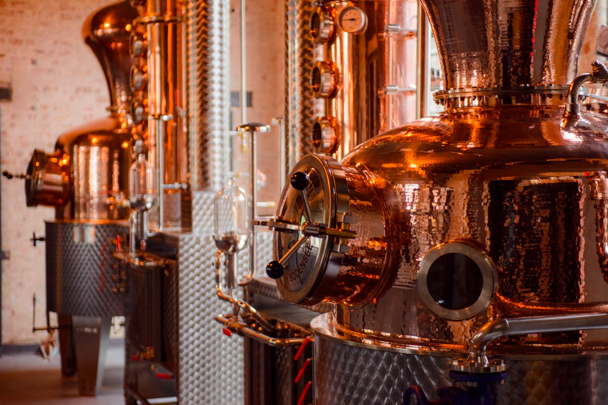 English Whisky: East London Liquor Company stills