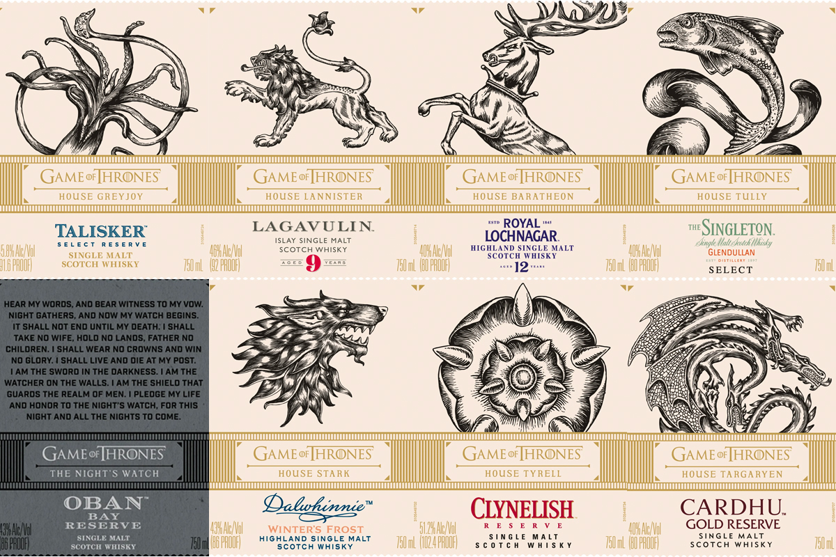 Game of Thrones Scotch: Diageo Labels