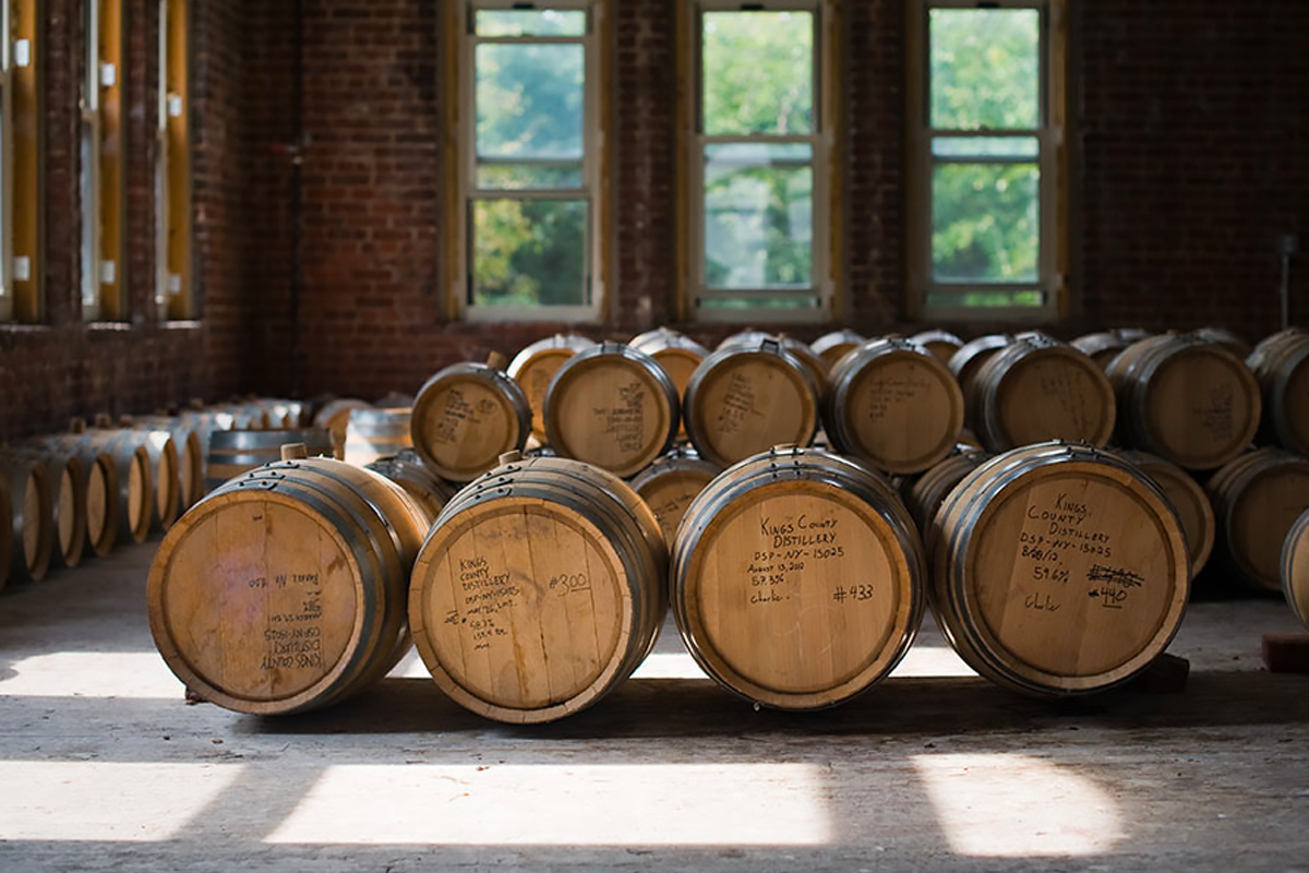 Empire Rye: Barrels at Kings County Distillery