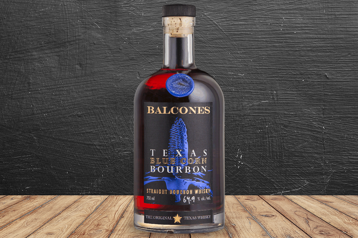 bourbons not from kentucky: Balcones Texas Blue Corn Bourbon