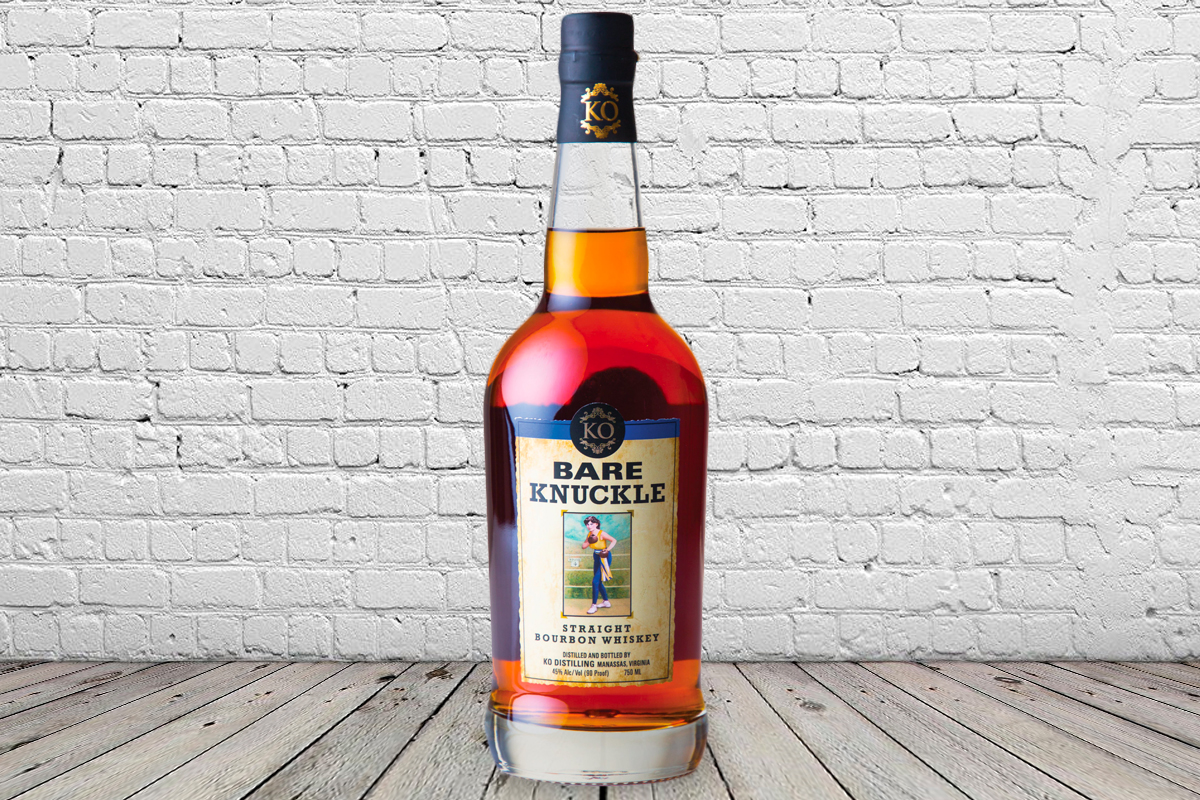 bourbons not from kentucky: KO Distilling Bare Knuckle Straight Bourbon