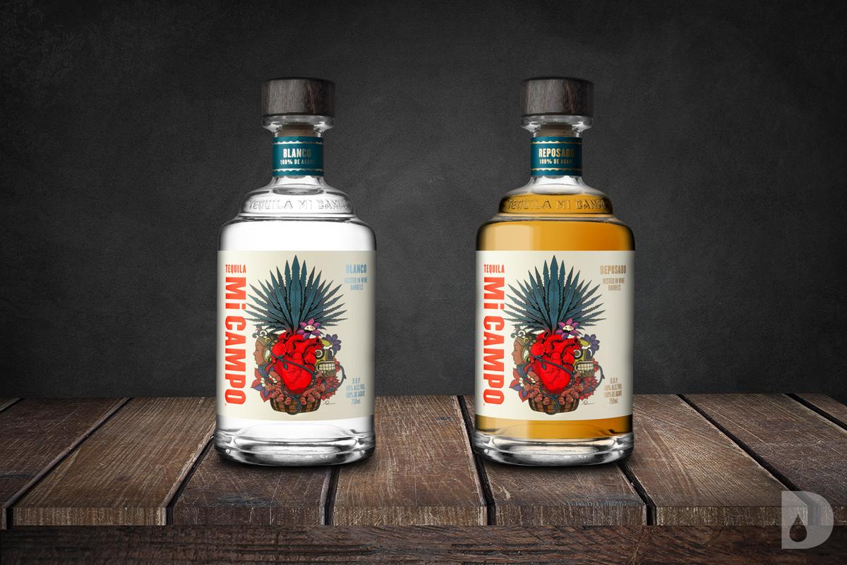 Tequila MI CAMPO Blanco and Reposado